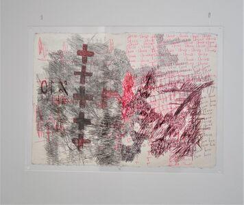 Oscar Murillo (b. 1986), 'flight #63,', 2018