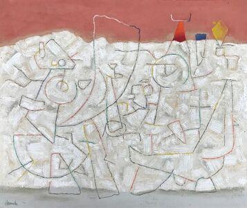 Willi Baumeister, 'Helle Bewegungen mit rotem Horizont ', 1947
