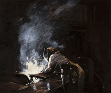 Michael Brophy, 'The Welders of Burning Alley IV', 2019