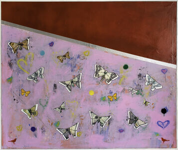 Guy Stanley Philoche, 'Fire Engine Red with Lots of Butterflies', 2019