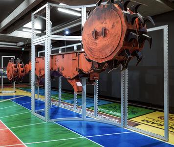 Simon Denny, 'Joy Global semi-autonomous longwall coal mining 7LS8 shearer cardboard display', 2019