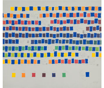Osvaldo Romberg, 'All the colors interpolated by blue', 1981