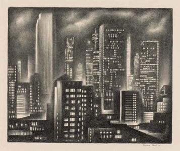 Howard Cook, 'New York Night (D. 162)', 1931