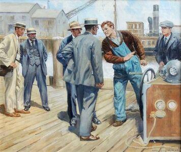 Anton Otto Fischer, 'Argument on the Dock', 1926