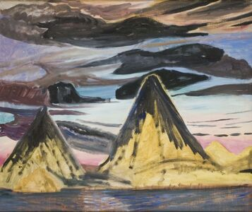 Marguerite Zorach, 'Volcanoes, Sunset', 1960