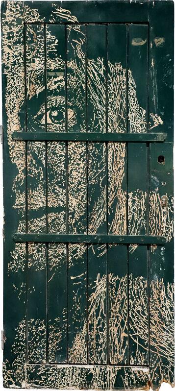 Vhils, 'Depict Series #10', 2018, Sculpture, Hand-carved old wooden door, AURUM GALLERY