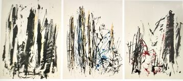 Arbres (Yellow, Blue, Red) (triptych)