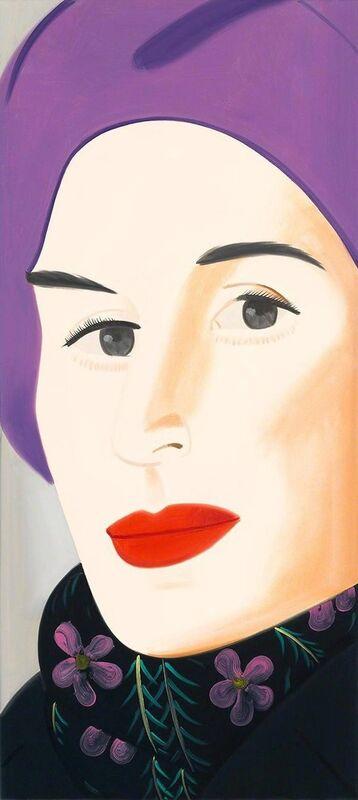 Alex Katz, 'Purple Hat (Ada)', 2017, Print, Archival pigment inks on Crane Museo Max 365 gsm fine art paper, Kenneth A. Friedman & Co.
