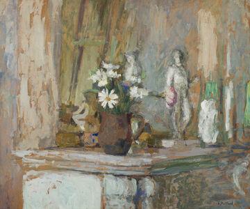 Édouard Vuillard, 'Marguerites et statuettes sur la cheminée', ca. 1905