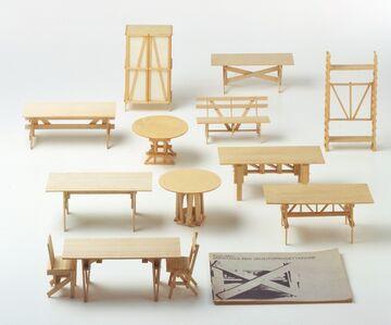 Enzo Mari, 'Proposal forun'autoprogettazione models(Proposta perun'autoprogettazione (modellini))', 1973