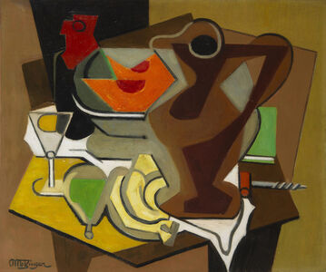 Jean Metzinger, 'Pichet, fruits et tire-bouchon', 1950-1956