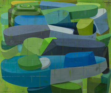 Deborah Zlotsky, 'Tulips and chimneys', 2014