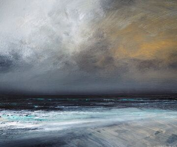 Ruth Brownlee, 'Winter Gold Skies Clearing, Quendale', 2019