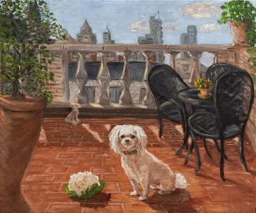 Juan Carlos Merlo, 'Dog with Cauliflower on Terrace', 2018