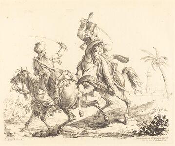 Carle Vernet, 'Hussard Striking a Mameluck'