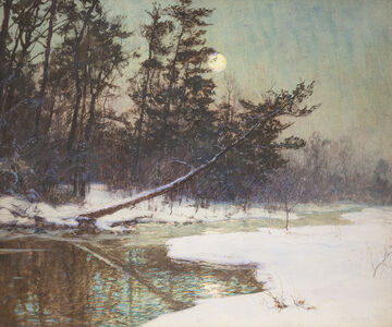 Walter Launt Palmer, 'Moonrise Over a Snowy Landscape', Late 19th century