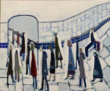 David Fawcett, 'Tube passengers', Contemporary