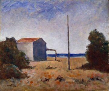 Carlo Carrà, 'Marina con palo', 1951