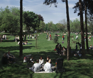 Gábor Arion Kudász, 'Picnic, Városliget (Tourists in environment)', 2005
