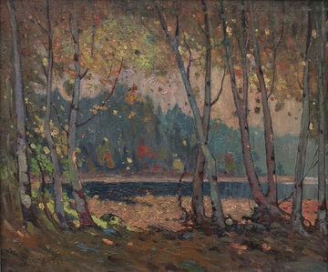 John William Beatty, 'Birch Trees, Algonquin Park', 1919