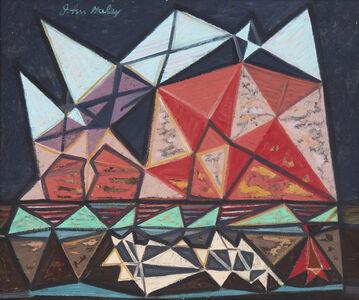 John Charles Haley, 'Tonalea- Monument Valley, Flock of Sheep', 1947