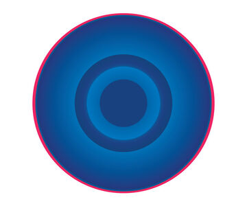 Ruth Adler, 'Blue Circle with Red Ring', 2020
