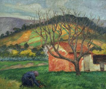Rupert Bunny, 'Farmhouses, Le Lavandou', ca. 1924