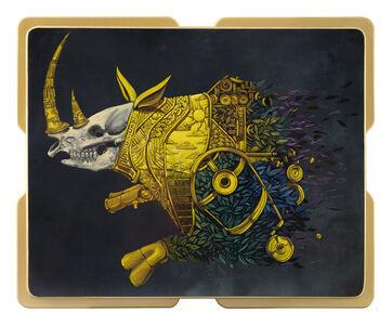 Pixel Pancho, 'Golden Rhino', 2020