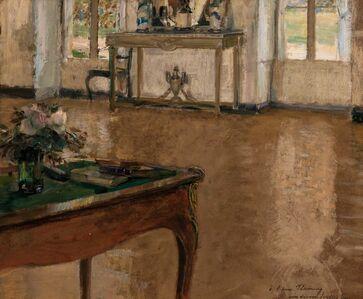 Walter Gay, 'A Bureau Plat set with Flowers'
