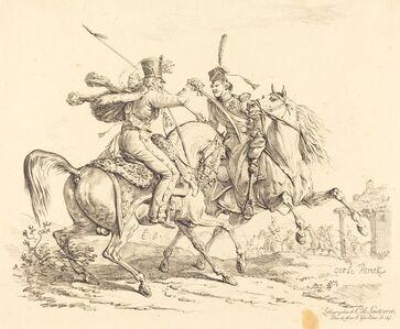 Carle Vernet, 'Hussard Striking a Cosack'