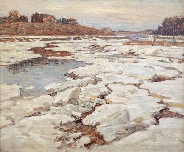 William Lester Stevens, 'A River in Winter', 1921