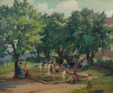 Mabel Woodward, 'Afternoon at the Playground', 19th -20th Century