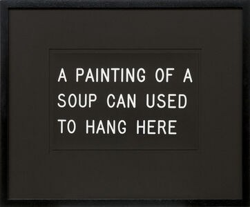William Anastasi, 'A Painting of a Soup Can Used to Hang Here (233/250)', 1991