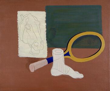 Jan Matulka, 'Horse Head, Tennis Racket, Foot', 1936