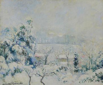 Georges Manzana-Pissarro, 'Vue de Menton Enneigée', 1955