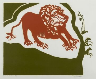Edward Bawden, 'Lion & Zebras', 1989