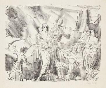 Augustus Edwin John, 'Strolling Musicians (West Coast of Ireland)', c.1921