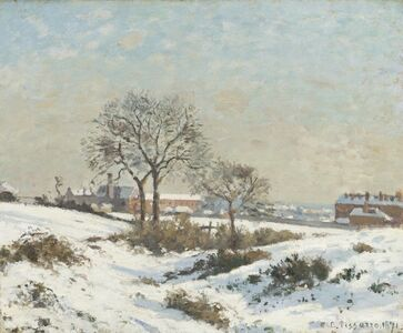 Camille Pissarro, 'Snowy Landscape at South Norwood', 1871