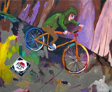 Huey Crowley, 'Night Bike Ride Ft. Pizza Rat', 2016