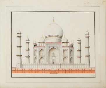 Company School Artist, 'Architectural Drawings - Western view of the Taj'