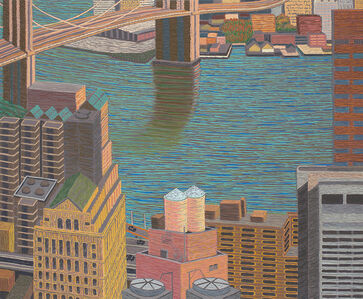 Yvonne Jacquette, 'Brooklyn Bridge View with Double Water Towers ', 2015