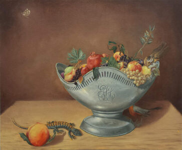 Tony Geiger, 'Bowl of Fruit with Lizard ', 2018