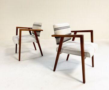 Franco Albini, 'Model 48 Armchairs Restored in Brazilian Calfskin and Isabel Marant Ivory Silk Wool', c. 1955