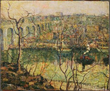 Ernest Lawson, 'High Bridge - Early Moon', before 1911