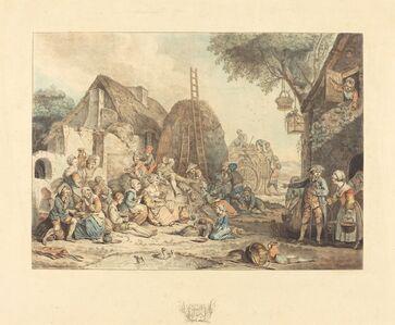 Jean-François Janinet after Pierre Alexandre Wille, 'Le repas des moissonneurs', 1774