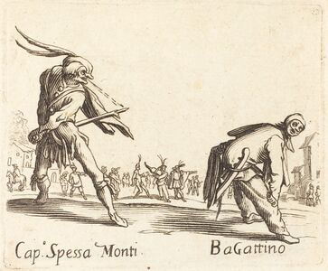 after Jacques Callot, 'Cap. Spessa Monti and Bagattino'