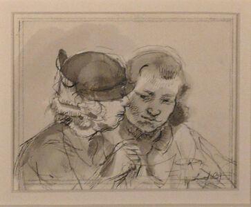 Isabel Bishop, 'TWO GIRLS', ca. 1935