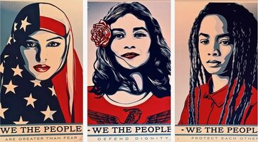 Shepard Fairey (OBEY), 'We the People Set (AP)', 2017