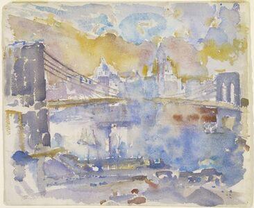John Marin (1870-1953), 'Brooklyn Bridge', 1912