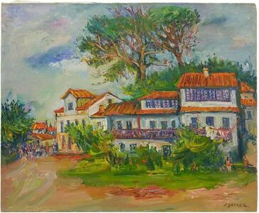 Jacques Zucker, 'Farmhouse in Provence, Post Impressionist Oil on Canvas', Mid-20th Century
